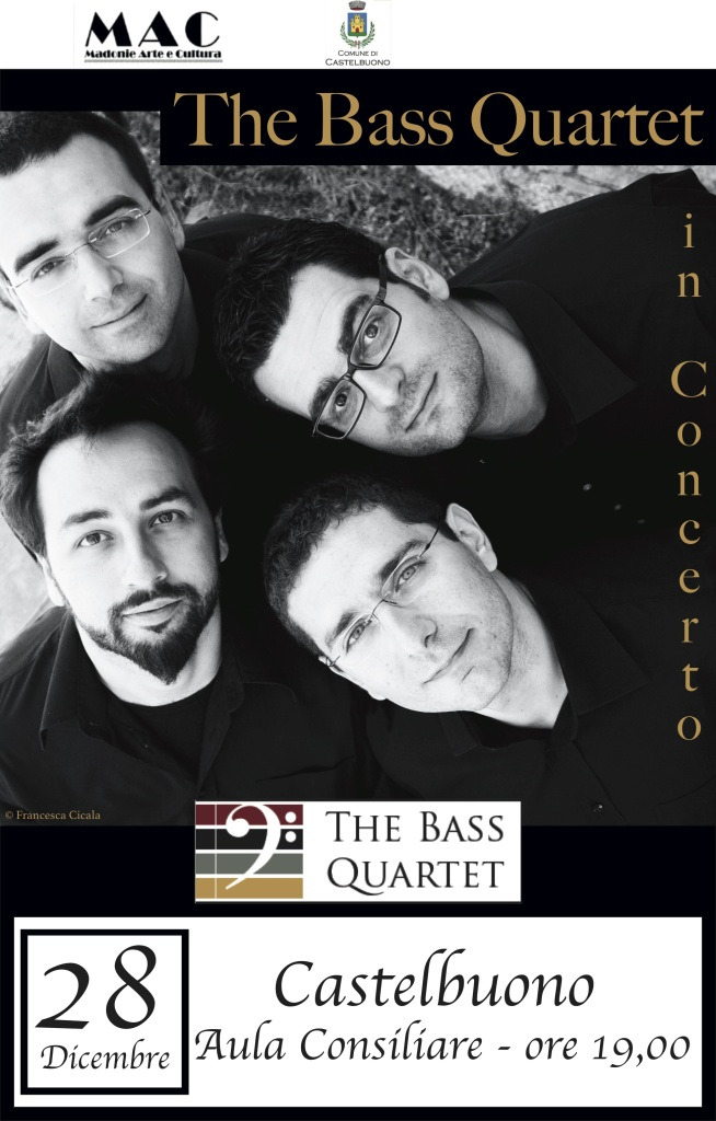 Locandina The Bass Quartet - Castelbuono